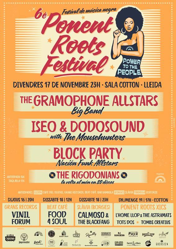 17/11/2017 NACIÓN FUNK ALL-STARS BLOCK PARTY. Festival Ponent Roots, Sala Cotton (Lleida)